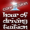 1 hour of driving tuition (concession rate)