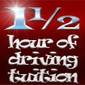 1½ hours (90mins) of driving tuition