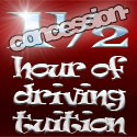 1½ hours (90mins) of driving tuition (concession rate)