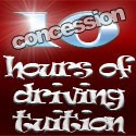 10 hours of driving tuition (concession rate)