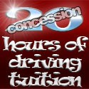 20 hours of driving tuition (concession rate)