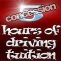 5 hours of driving tuition (concession rate)